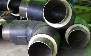 Изолированный отвод в ППУ изоляции в ПЭ оболочке 57х3/125 Ст3